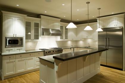 clean kitchen space