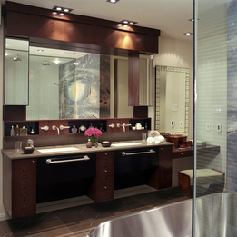 Modern and traditional vanities