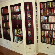Room shelving units