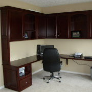 Corner desk with cabinets