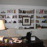 Wall-to-wall bookcases