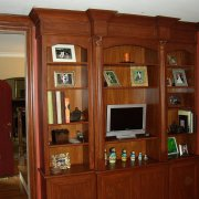Bookcase with trim for home office