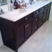 Dual sink vanities